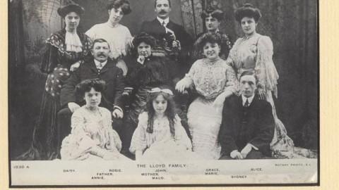 Marie Lloyd's Family circa 1900