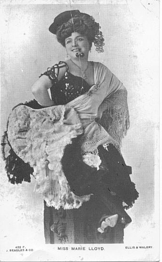 Marie Lloyd in Music Hall heyday