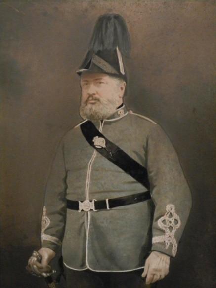 Surgeon Robert Edward Swyer 7th Tower Hamlets RV. Died 31 Dec 1881